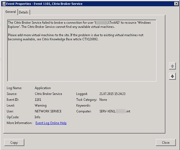 Citrix XenDesktop 7 6 - Hosted Shared Desktop shows Load
